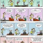 """""""L'artiste"""". Une quinzaine de gags publié dans """"Le Courrier Picard""""."""