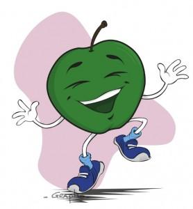 Pomme contente