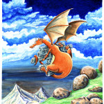 Dragon Orange. Aquarelles.