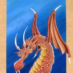 Acrylique sur dragon.