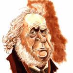 Honoré Daumier. Acryliques sur papier