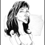 Sophie Marceau. Graphite sur papier