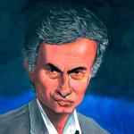 "José Mourinho pour ""Bookface"". Acryliques."