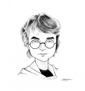 Caricature Harry Potter.
