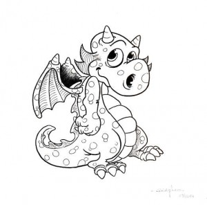Dragon, encre sur papier.