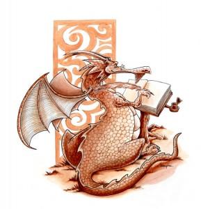 Dragon écrivain